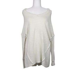 If It Were Me Ivory Cold Shoulder Knitted Sweater
